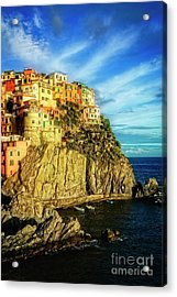 Acrylic Print featuring the photograph Glowing Manarola by Scott Kemper