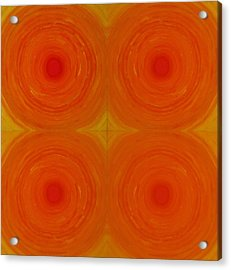Glowing Orange Acrylic Print