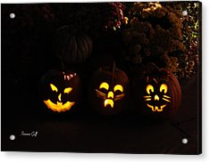 Glowing Pumpkins Acrylic Print by Suzanne Gaff