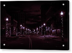 Glowing Streets Downtown Acrylic Print