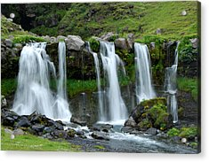 Acrylic Print featuring the photograph Gluggafoss by Marilynne Bull