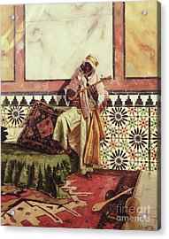 Gnaoua In A North African Interior Acrylic Print