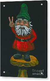 Acrylic Print featuring the painting Gnome Of Peace by Gail Finn