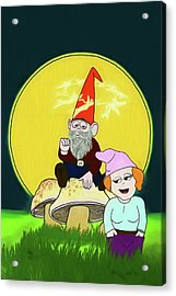 Acrylic Print featuring the digital art Gnome Sweet Gnome by John Haldane