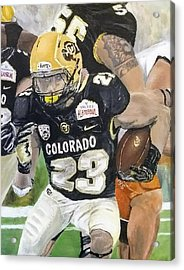Acrylic Print featuring the painting Go Buffs by Kevin Daly