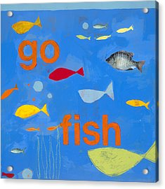 Go Fish Acrylic Print by Laurie Breen