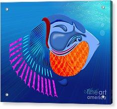 Go Fish Acrylic Print by Linda Seacord