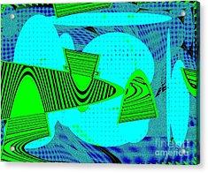 Go Green - Digital Art Acrylic Print by Marsha Heiken