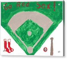 Go Red Sox Acrylic Print by Rosemary Mazzulla