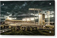 Go Royals - Black And Gold Acrylic Print