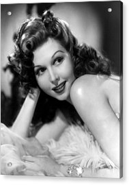 Go West Young Lady, Ann Miller, 1941 Acrylic Print