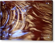 Go With The Flow - Abstract Art Acrylic Print by Carol Groenen
