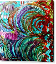Acrylic Print featuring the painting Go With The Flow by Julie  Hoyle