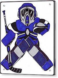 Goalie Blue Acrylic Print by Hockey Goalie