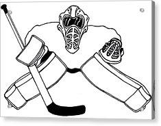 Goalie Equipment Acrylic Print by Hockey Goalie