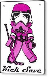 Goalie Pink Acrylic Print by Hockey Goalie