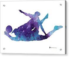 Goalkeeper Poster Acrylic Print by Joanna Szmerdt