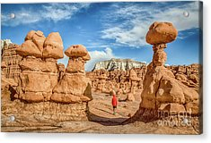 Goblin Valley State Park Acrylic Print by JR Photography