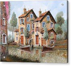 Gocce Sulle Case Acrylic Print