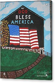 Acrylic Print featuring the painting God Bless America Barn by Jeffrey Koss