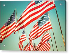 God Bless America Acrylic Print by Debi Bishop