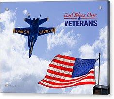 God Bless Our Veterans Acrylic Print