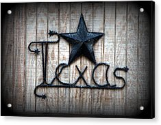Acrylic Print featuring the photograph God Bless Texas by Kathy  White
