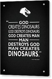 God Creates Dinosaurs Acrylic Print by Mark Rogan