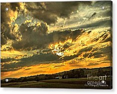 God Hand Acrylic Print by MaryLee Parker