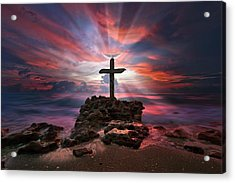 God Is My Rock Special Edition Fine Art Acrylic Print