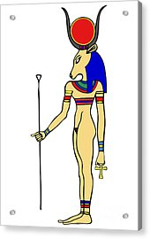God Of Ancient Egypt - Hathor Acrylic Print by Michal Boubin