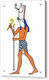 God Of Ancient Egypt - Horus Acrylic Print by Michal Boubin