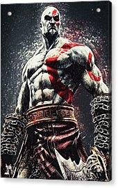 God Of War - Kratos Acrylic Print by Taylan Apukovska
