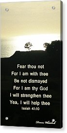 God Will Help You Acrylic Print by Doreen Whitelock