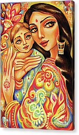 Goddess Blessing Acrylic Print by Eva Campbell