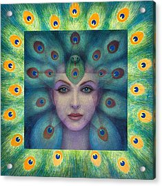 Goddess Isis Visions Acrylic Print by Sue Halstenberg