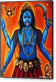 Goddess Kali  Acrylic Print by Carmen Cordova