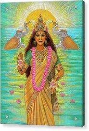 Goddess Lakshmi Acrylic Print by Sue Halstenberg
