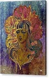 Goddess Lotus I Acrylic Print by Irina Effa