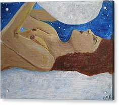 Acrylic Print featuring the painting Goddess Of The Moon by Barbara Giordano
