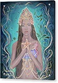 Goddess Of The Sea  Acrylic Print by Angel Fritz
