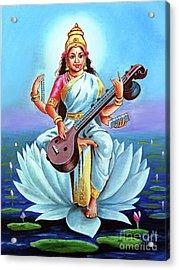 Goddess Of Wisdom And Knowledge Acrylic Print
