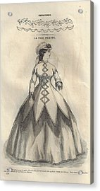 Godey 1865 - La Folie Paletot Acrylic Print by Karen Szatkowski