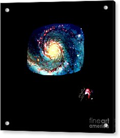 Godhood 2 - Whirlpool Galaxy Acrylic Print by Richard W Linford