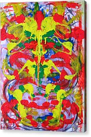 Gods And Elephants Acrylic Print by Alfredo Dane Llana