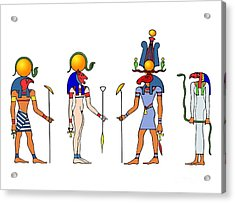 Gods And Goddess Of Ancient Egypt Acrylic Print by Michal Boubin