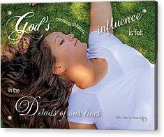 Gods Influence Acrylic Print