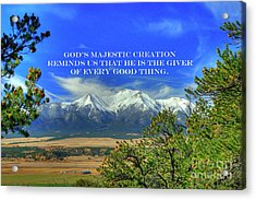 God's Majestic Creation Acrylic Print