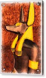 Gods Of Egypt - Anubis Acrylic Print by Raphael Terra