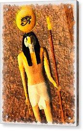 Gods Of Egypt - Horus Acrylic Print by Raphael Terra
